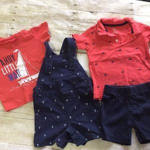 Carters sailor outfits bundle